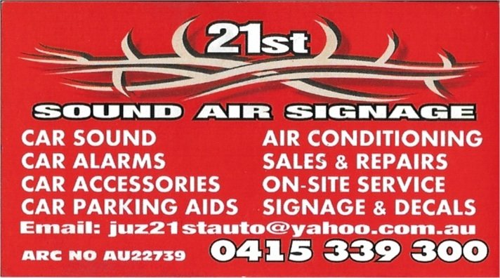 21st sound air signage