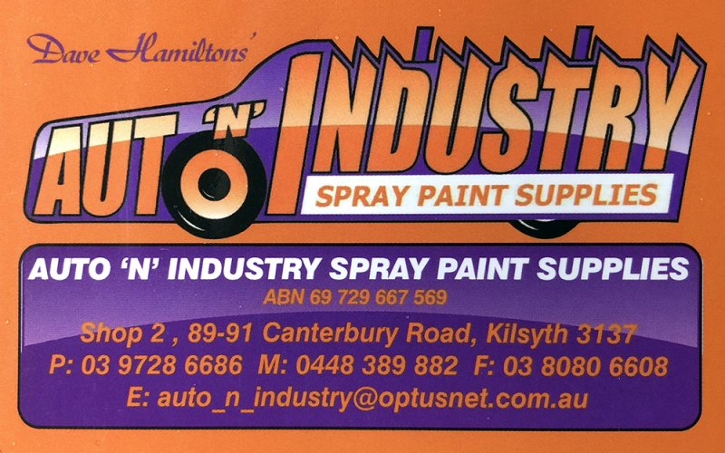 Aut 'n' Industry Spray Paint Bus Card r